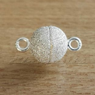 Sterling Silver Ball Magnetic Stardust Clasp